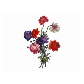 Vintage Flowers Boquet Postcard