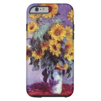 Vintage Flowers, Bouquet of Sunflowers by Monet Tough iPhone 6 Case