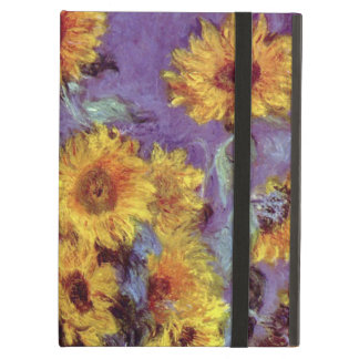 Vintage Flowers, Bouquet of Sunflowers by Monet Case For iPad Air