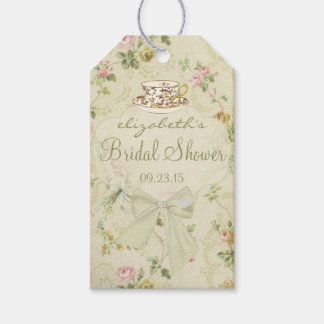 Vintage Flowers- Bridal Shower Pack Of Gift Tags