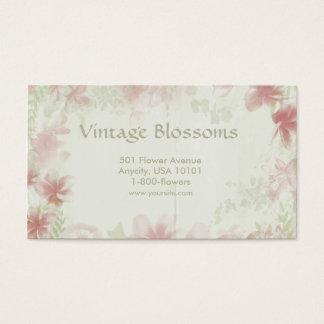 Vintage Flowers Business Card