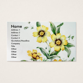 Vintage Flowers Business Card