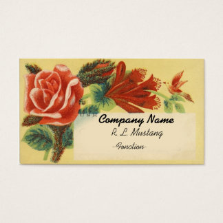 Vintage Flowers Business card template