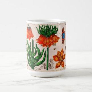 Vintage Flowers Butterflies Illustration Print Mug