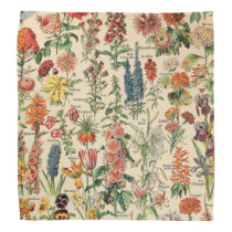 Vintage Flowers by Adolphe Millot Bandana