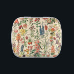 """Vintage Flowers by Adolphe Millot Candy Tin<br><div class=""""desc"""">Vintage Flowers by Adolphe Millot.  Please visit my store for more interesting design and more color choice => zazzle.com/colorfulworld*</div>"""