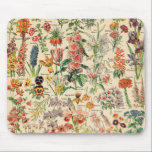 "Vintage Flowers by Adolphe Millot Mouse Pad<br><div class=""desc"">Vintage Flowers by Adolphe Millot.