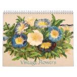 Vintage Flowers Calendar