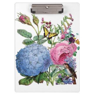 Vintage Flowers Clip Board