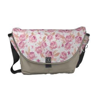 vintage flowers commuter bag
