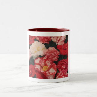 vintage flowers cup Two-Tone coffee mug