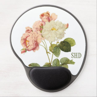 Vintage Flowers custom monogram mousepad 2
