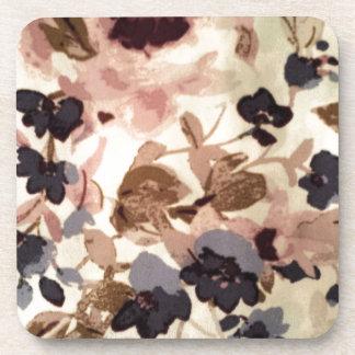 Vintage Flowers Drink Coaster