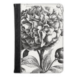 Vintage Flowers Etching Kindle Case