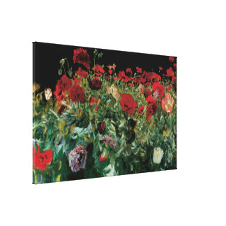 Vintage Flowers Floral Art, Poppies by Sargent Canvas Print