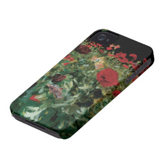 Vintage Flowers Floral Art, Poppies by Sargent Case-Mate iPhone 4 Case