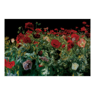 Vintage Flowers Floral Art, Poppies by Sargent Poster