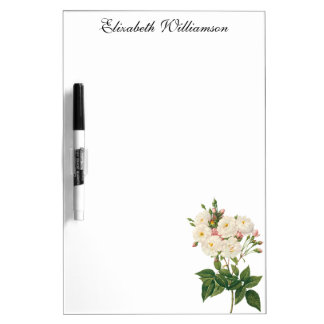Vintage Flowers Floral Blush Noisette Rose Redoute Dry Erase Board