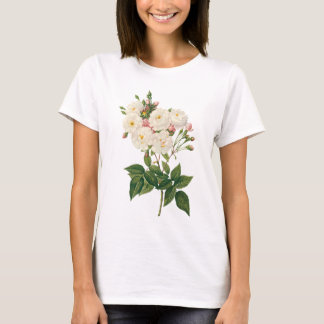 Vintage Flowers Floral Blush Noisette Rose Redoute T-Shirt