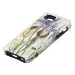 Vintage Flowers, Floral Botany, Garden Irises iPhone 5 Case