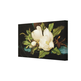 Vintage Flowers, Giant Magnolias by Martin Heade Canvas Print