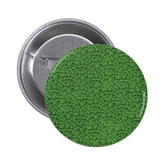Vintage Flowers Green Grunge Button