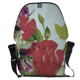 Vintage Flowers Grunge Messenger Bag
