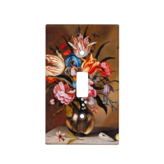 Vintage Flowers in a Vase | Switch Plates