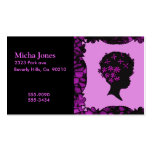 Vintage Flowers In Afro Double-Sided Standard Business Cards (Pack Of 100)