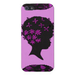 Vintage Flowers In Afro Case For iPhone 5