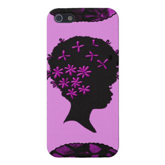 Vintage Flowers In Afro Cover For iPhone SE/5/5s