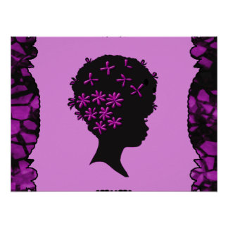 Vintage Flowers In Afro Poster