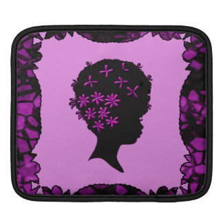 Vintage Flowers In Afro Sleeve For iPads