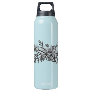 Vintage Flowers Insulated Water Bottle