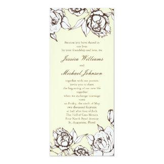 Vintage Flowers Invite