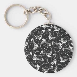 vintage flowers keychain