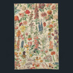 """Vintage Flowers Kitchen Towel<br><div class=""""desc"""">Vintage Flowers by Adolphe Millot.  Please visit my store for more interesting design and more color choice => zazzle.com/colorfulworld*</div>"""