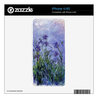 vintage flowers lilac-irises-1917 monet. decal for the iPhone 4