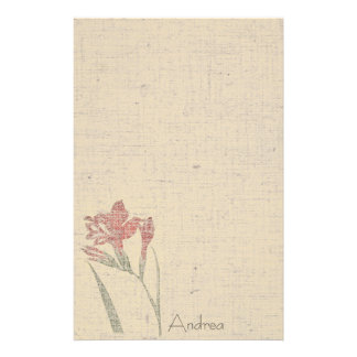 Vintage Flowers Linen Stationery