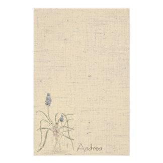 Vintage Flowers Linen Stationery
