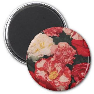 vintage flowers magnet