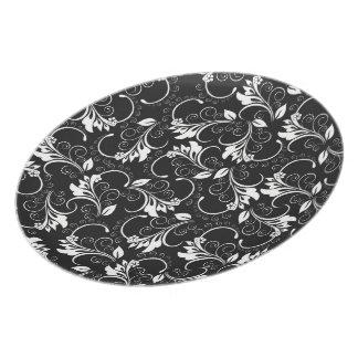 vintage flowers melamine plate