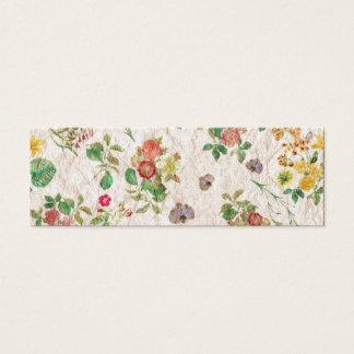 Vintage Flowers Mini Business Card