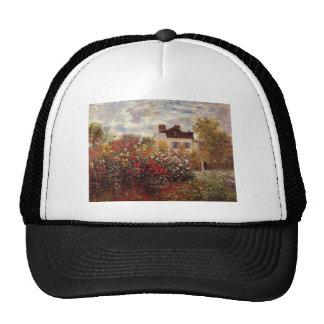 vintage flowers monet garden-in-argenteuil-sun trucker hat
