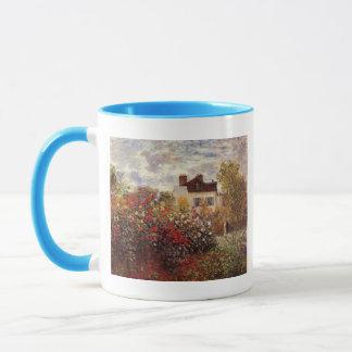 vintage flowers monet-s-garden-in-argenteuil-sun mug