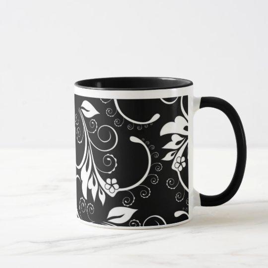 vintage flowers mug