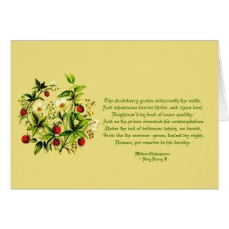 Vintage Flowers of Shakespeare Strawberries Card