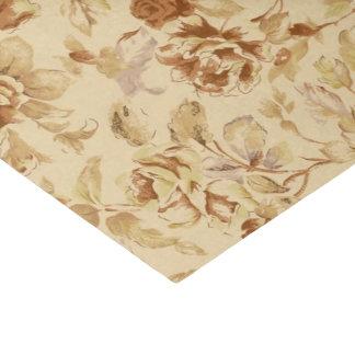 Vintage Flowers Old Paper Pattern Burnt Parchment