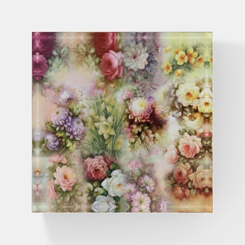 Vintage Flowers Paperweight