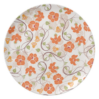Vintage Flowers Party Plate